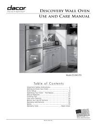 dacor discovery eo user manual 40 pages also for discovery mo discovery po