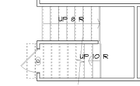 Floor Plan Stairs Chic And Creative 7 Can I Hide The Top Of Stair On  Floorplan.