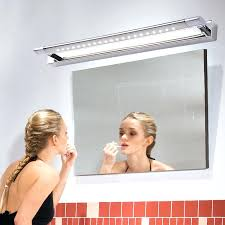 bath mirror light fixtures bathroom makeup lights snapped stainless steel lighting led for