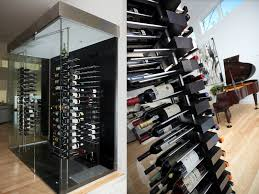 custom wine cabinets. Exellent Cabinets Luxury Wine Cellar With Floortoceiling Mounted Floating Racks Custom   In Wine Cabinets
