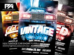 car show flyer template info vintage car show event flyer template by pawlowskiart on