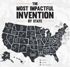 The Most Important Inventions To Come From Each State In One Map