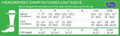 Calf Size Chart Calf Sleeve 10 15