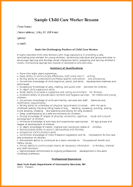 16 Sample Child Care Resume Agenda Example