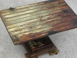 primitive rustic coffee table stand