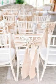 Hessian & Gypsophila Chair Decor | Sarah Jane Ethan Photography | http://www