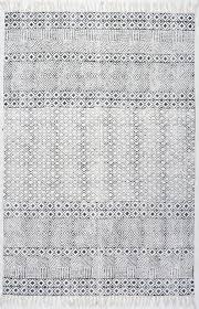 handmade flatweave diamond chain cotton fringe area rug scandinavian area rugs by nuloom