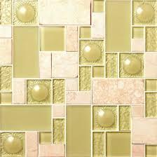 mosaic series low crystal glass floor tiles for bathroom