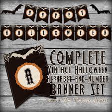 Free Printable Halloween Banner Set The Cottage Market