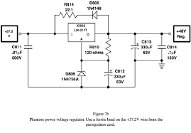 the solid state mic preamp recording magazine use · phantom power voltage regulator use a ferrite bead on the 57 2v wire from