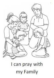 Small Picture I can pray with my family Coloring Sheet Homeschool Bible