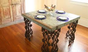 Iron Wood Dining Table Hand Made New Orleans Dining Room Table Made From Distressed Wood
