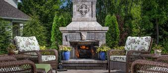 brighton series outdoor stone fireplace
