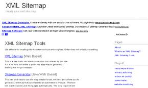 xml sitemap offers a web based tool to create an xml sitemap for your to submit to search engines