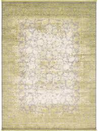 unique arcadia light green area rug oriental persian wool geometric carpet new
