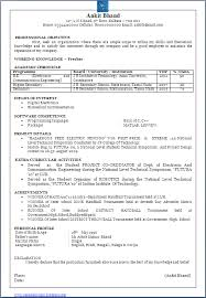 One Page Resume Format Doc Beautiful One Page Resume Cv Sample In Word Doc Of A B E