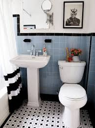 bathroom tiles black and white.  White 31 Retro Black White Bathroom Floor Tile Ideas And Pictures And Bathroom Tiles Black White