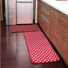 washable kitchen floor mats. Awesome Ustide 2 Piece Red Polka Dots Kitchen Rug Set Memory Foam Inside Floor Mats Washable Attractive E