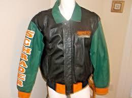 details about vintage nascar ken schrader hendrick motorsports leather jacket size m usa made