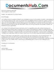 Cover Letter For Auditor