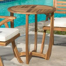 round wood outdoor table. Exellent Wood Get Quotations  Great Deal Furniture Navarro  Round Wood Outdoor Accent  Table Perfect For Patio With And