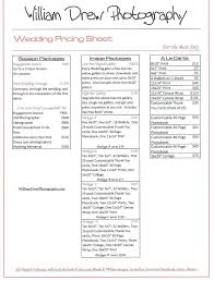Drew Photography Wedding Price Sheet For Twin Cities Weddings Create ...