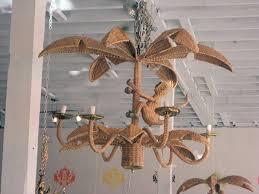palm tree monkey chandelier