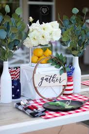 red and white table decorations. Red, White, And Blue Table Decorations Red White E