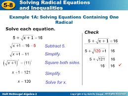 6 example 1a solving equations