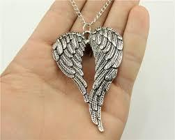 whole whole wysiwyg antique silver antique bronze color 68 46mm big double wings pendant necklace 70cm chain long necklace turquoise pendant