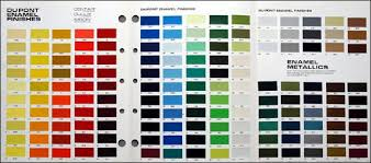 Dupont Single Stage Paint Color Chart Dupont Nason