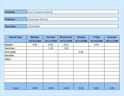 Excel Weekly Employee Timesheet Template Software Payroll Hourly