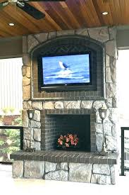 stone fireplace flat screen tv with above black mounting new mantel and crown molding