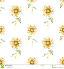 Sunflower Pattern Enchanting Watercolor Sunflower Pattern Stock Vector Illustration Of Like