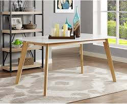 Walker Edison Dining Table Tw60rmwnl White Appliances Connection
