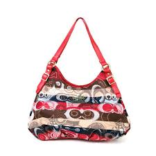 Coach Fashion Signature Medium Red Shoulder Bags BCD Give You The Best  feeling!