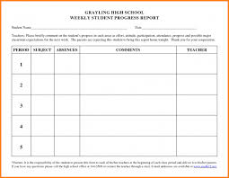 Student Progress Report Template Word Best And Professional For ...