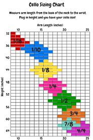 Cello Bow Size Chart Cello Sizing Chart What Size Cello Should My Student Play
