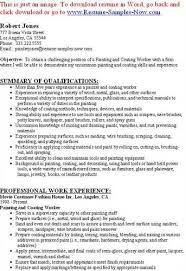 Painter Resume