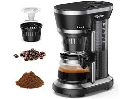 You can also package your signature beans for sale and offer to grind them for customers upon checkout, so they can brew coffee at their own convenience. Single Serve Coffee Maker Sboly Grind And Brew Automatic Coffee Machine Single Cup Coffee Maker With Coffee Grinder Built In A 12oz Glass Coffee Pot Newegg Com