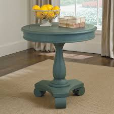 signature design by ashley cottage accents blue round accent table com