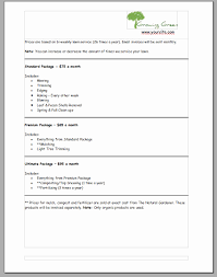 Lawn Care Invoice Template Landscaping Business Forms