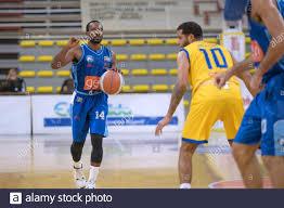 Scafati, Italien. Januar 2021. Gevi Napoli Basket, schlägt Scafati Basket  im Campano Derby. Der Siegespfad geht weiter für Napoli Basket GeVi, die es  in der roten Gruppe der Serie A2 Meisterschaft zuerst