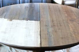refinished dining room tables before and after refinishing table cost weathered oak chairs