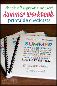 Printable Summer Checklists For Your Kids - Overstuffed