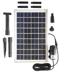 Solar Water Pump Kit With Led Lights Solariver Solar Water Pump Kit Solar Powered Ponds