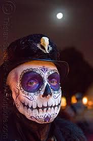 dãa de los muertos makeup man