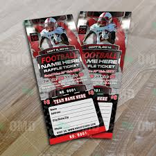 sports invites halftime football raffle ticket template raffle ticket design 6 product 2