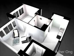 Room HDB Flat  Room Studio Apartment SA Model Floor Plan - Studio apartment floor plans 3d