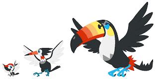 Trumbeak Evolution Chart The Evolution Of Pokemons Starting Birds Pikipek Evolution
